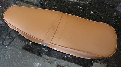 Lambretta complete long LIGHT BROWN seat saddle  LI TV GP SX DL