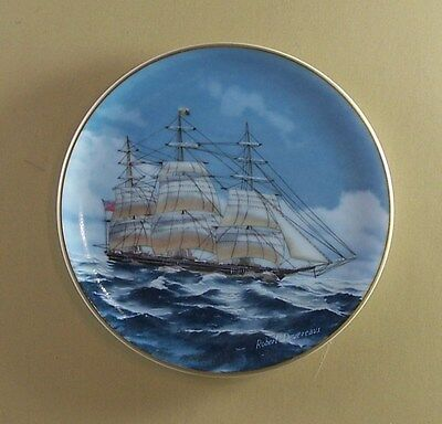 NIGHTINGALE Plate The 25 Great American Sailing Ships Porcelain Miniatures Coll