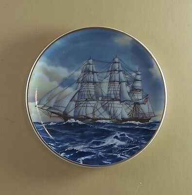 CHALLENGE Plate The 25 Great American Sailing Ships Porcelain Miniatures Collect