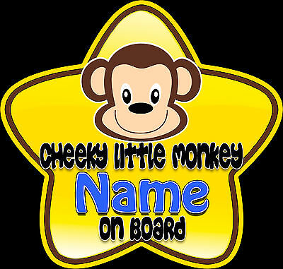 Personalised Nana/'s Little Man Star Shaped Baby On Board Car Sign ~ New!