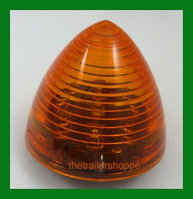 """Maxxima 2"""" Round Beehive Side Clearance Marker light 6 Vantage LED Amber Lens"""