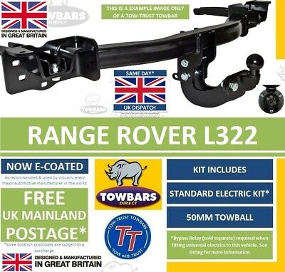 Flange towbar for Land Rover Range Rover L322 2002-2014 Inc Vogue   Tow bar