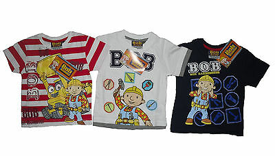 Boys T-Shirt/Top Bob The Builder 18-24 Months 2 3 4 5 6 7 & 8 Years Old Bnwt