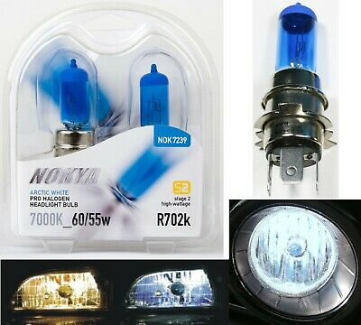 Nokya 7000K White H4H R702K Nok7239 60/55W Headlight Bulb Replace JDM Japan Lamp