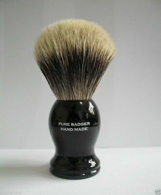 100% Pure Badger Shaving Brush With Black Handle