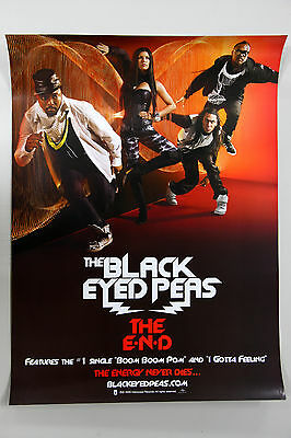 BLACK EYED PEAS - The E.N.D END KOREA OFFICIAL POSTER *HARD TUBE CASE* 2-Sided