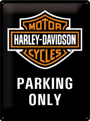 Harley Davidson Retro Blechschild Harley Parking Only 30 x 40 cm neu