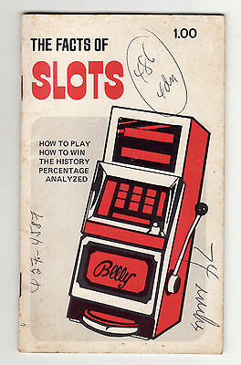 THE FACTS OF SLOTS by Walter I. Noland (1970) SC ~History & Playing the Slots~