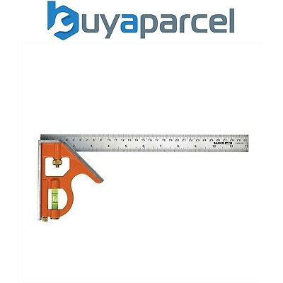 "Bahco CS400 400mm 16"" Carpenters Combination Square BAHCS400 Stainless Steel"