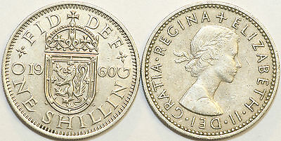 1953 to 1966 Elizabeth II Cupro-Nickel Scottish Shilling Your Choice of Date
