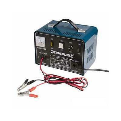 Silverline Battery Charger 12/24V 18A/12A 12V at 18A/24V at 12A DIY Power Tools