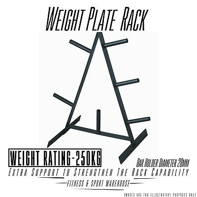 NEW Weight Plate Storage Rack Tree Fitness Gym Weightlifting Exercise Equipment