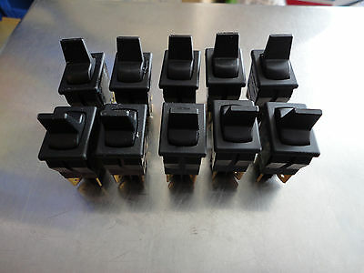 Lot of 10, Carlingswitch 62115929-0-0-N, Paddle Switches, New, 8a 125v, 4a 250v