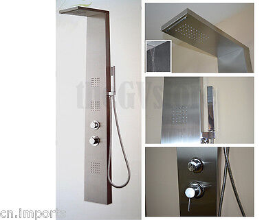 Thermostatic Stainless Steel Shower Panel Rain Fall Style Massage Shower System