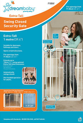 Dreambaby Chelsea Extra Tall Swing Closed Security Baby Pet Safety Gate Dream 1m