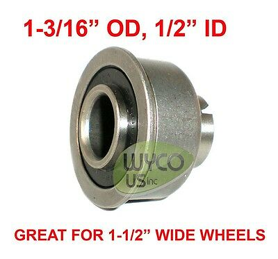 "Precision, Sealed Bearing W/ Lip (Flanged), 1-3/16"" Od, 1/2"" Id, Floor Buffers"