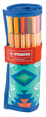 25 Stabilo Fineliner point 88 im Rollerset, Tintenschreiber Schwan point88
