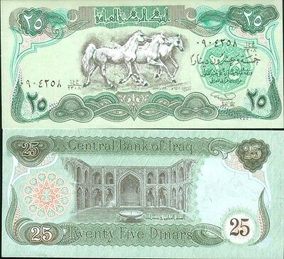 IRAK billet neuf TWENTY FIVE DINARS Pick 74  25 SADDAM HUSSEIN IRAQ 1990
