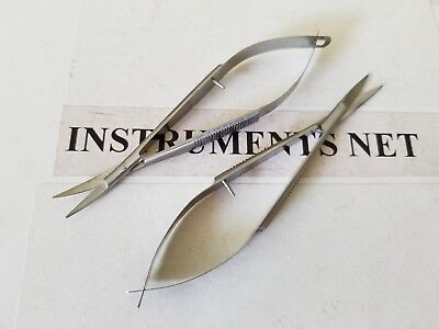 "Noyes Iris Scissors 4.5"" Curved and Straight OPHTHALMIC SURGICAL INST"