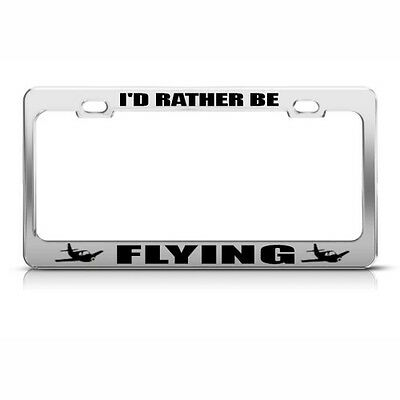 I/'D RATHER BE IN NASHVILLE License Plate Frame Stainless Metal Tag Holder