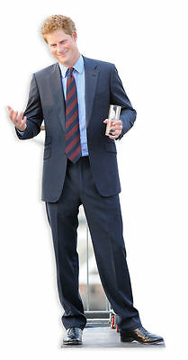 PRINCE HARRY LIFESIZE CARDBOARD CUTOUT STANDEE STANDUP Diamond Jubilee Royal