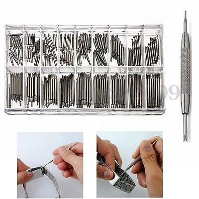 360Pcs 6-23mm Watch Band Spring Bars Metal Strap Link Pins + Remover Repair Tool