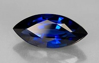 AAA Rated Marquise Faceted Bright Blue Lab Created Sapphire (4x2mm to 20x10mm)