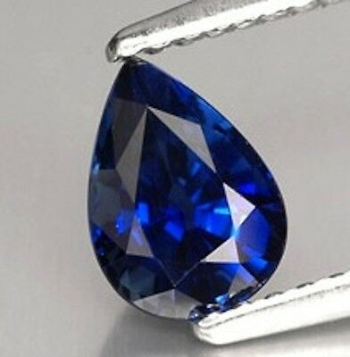 AAA Rated Pear Faceted Bright Blue Lab Created Sapphire (5x3mm to 16x12mm)