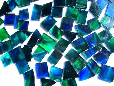100grams Blue/Green Perfect Mosaic size Tile pieces