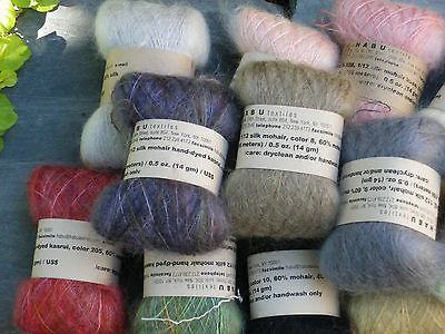 Habu Silk Mohair Smooth and Silky for knitting crocheting weaving Make a Scarf