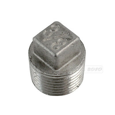 "304 Stainless steel Square Head Pipe fitting Plug 3/8"" Malleable male threaded"