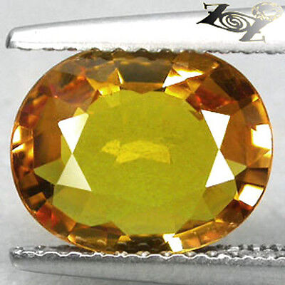 2.63 CT.Flawless Natural Oval 8*10 mm Songea Tanzania Vivid Gold Yellow Sapphire