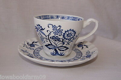 Blue Nordic Cup and Saucer Set(s), English Ironstone, J&G Meakin