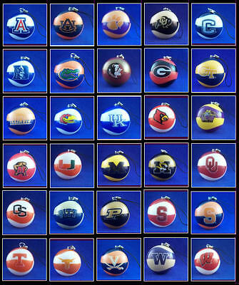 "New 2"" College Ncaa Basketball Ball Dangler Ornaments You Pick One Of 30 Teams!"