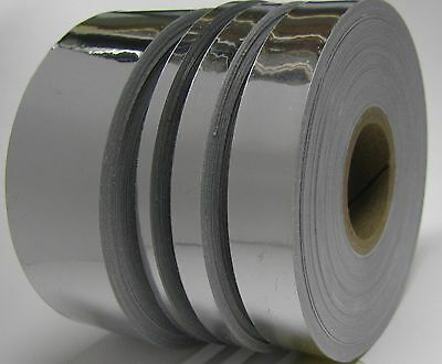 Silver Chrome Vinyl Tape, Choose Your Size, Adhesive Coated Mirror Plastic