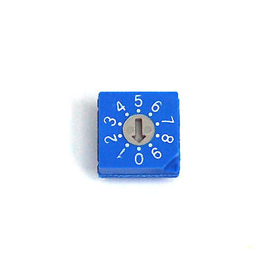 2pc Rotary Dip Switch BCD code RS30012 0~9 Scale 10x10x4.7mm Hampolt Taiwan