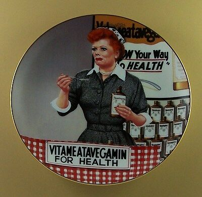 IT'S JUST LIKE CANDY The Official I LOVE LUCY Plate Collection +COA TV Series
