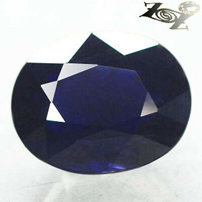 7.73 CT.Natural Oval 11*13.5 mm Biaxial Cornflower Blue Cordierite Iolite 堇青石