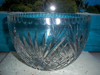 Antique Large Heavy American Brilliant Hawkes Thick Cut Crystal Centerpiece Bowl