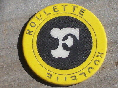 5TH EDT ROULETTE CHIP FROM THE FRONTIER CASINO LV NV R7