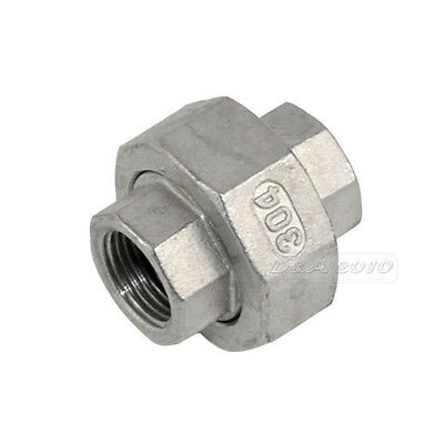 "BSP 1/2"" 304 stainless steel Malleable pipe fitting Straight Union coulping F/F"