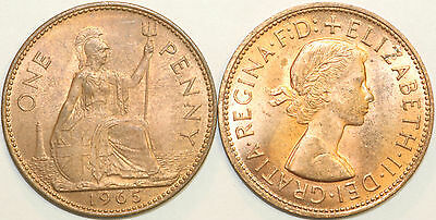 1961 to 1967 Elizabeth II Bronze Penny Your Choice of Date