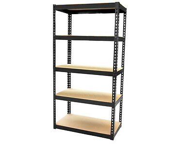 New 1.5M Heavy Duty 5 Tier Metal Boltless Shelving Shelves Storage Unit Rack