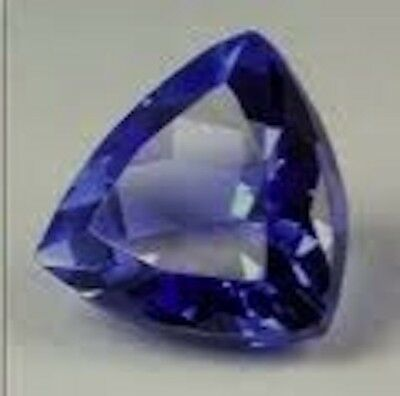 AAA Rated Trillion Faceted Bright Blue Lab Created Sapphire (4mm to 11mm)