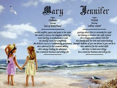 """""""Friends"""" Double Name Meaning Print Personalized (Freindship, Best Friends)"""