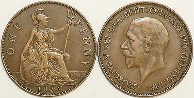 1911 to 1936 George V Bronze Penny Your Choice of Date