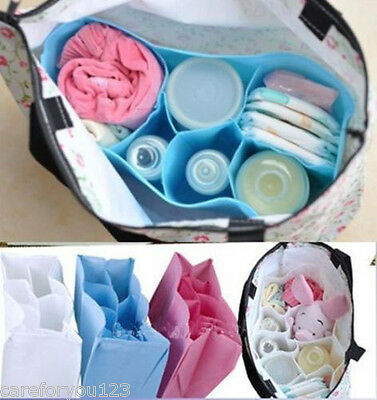 Baby Portable Diaper Nappy Storage Outdoor Travel Bag Tote Organizer Liner 7Cell
