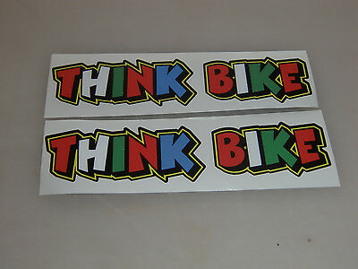 """THINK BIKE Stickers x2 Rossi""""The Doctor"""" Style  - decals"""