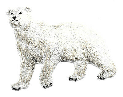 Polar Bear Fully Embroidered Iron On Applique Patch