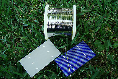 BEST Solar Cell 2mm Soldered TAB Tabbing WIRE for DIY Panel.  10' - 500' feet.